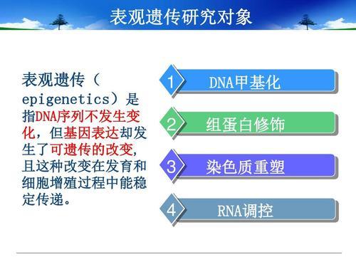表观遗传学是一个非常特殊的领域图