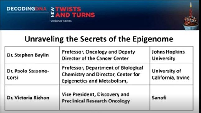 Unraveling the Secrets of the Epigenome--Stephen Baylin et.al图