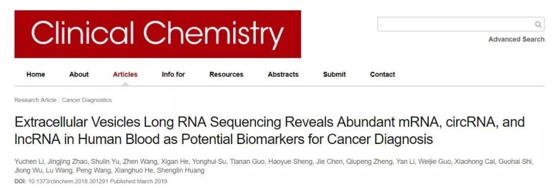 胞外囊泡长链RNA测序揭示人类血浆中 mRNA、circRNA和lncRNA组分特征及其临床应用图