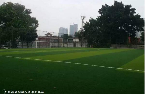广州海角红楼人造草足球场图