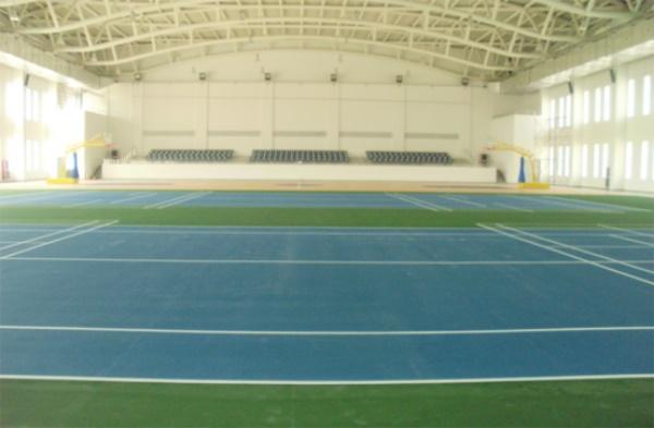 天津金融室内CUSHION弹性网球场图