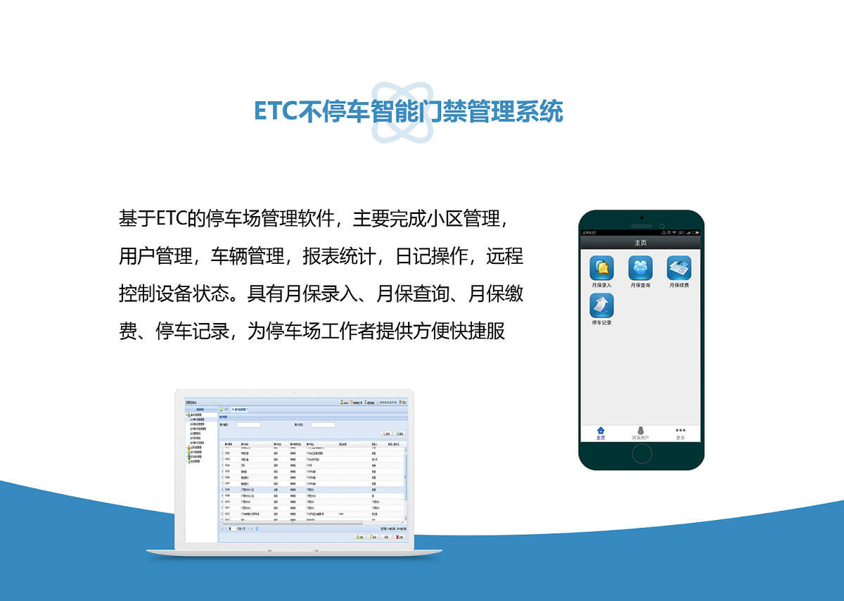 ETC不停车智能门禁管理系统图